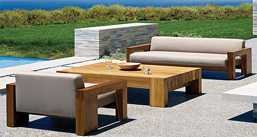 Wooden outdoor furniture for Outdoor furniture images