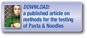 Download a published article covering methods for the testing of pasta products