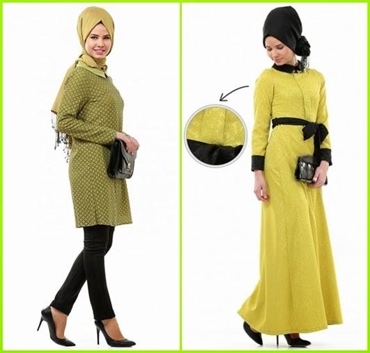 fıstık yeşili petek dokulu tunik ve kuşaklı elbise modelleri