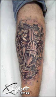3d monster tattoo
