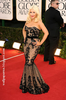 Singer-actress Christina Aguilera arrives at the 68th Annual Golden Globe Awards in Beverly Hills, CA