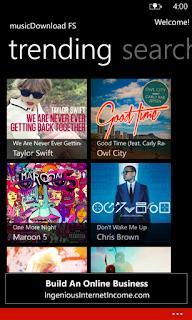 MusicDownload FS wp7 app