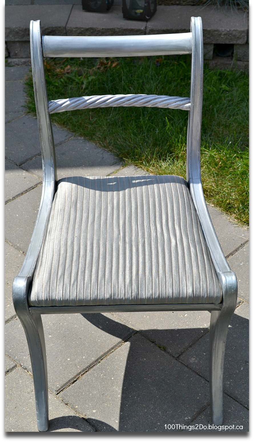Before and after antique silver chair things do