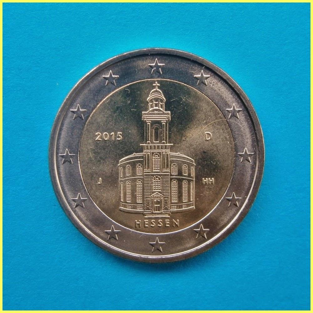 2 Euros Alemania 2015 Hesse