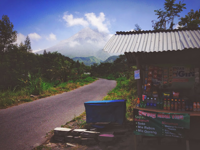 Stall at Mount Merapi