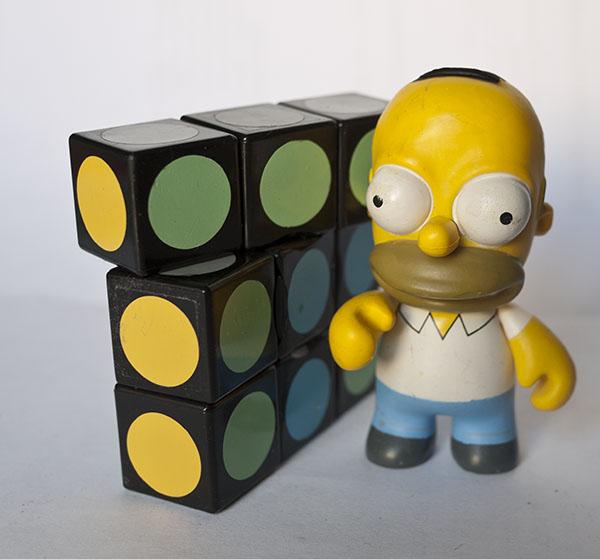 Scramble Rubik - Super Floppy Rubik Cube - Homer Simpson