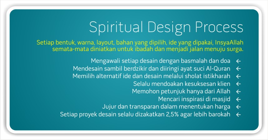 SPIRITUAL DESIGN PROCESS