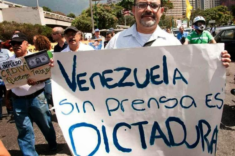 Jornais sem papel foram fechando na Venezuela