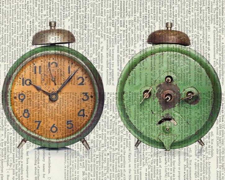 05-Vintage-Alarm-Clock-Jean-Cody-Vintage-Dictionary-Page-Art-Prints-www-designstack-co