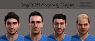 Italy U-21 EURO Facepack PES 2013 by Vangelis