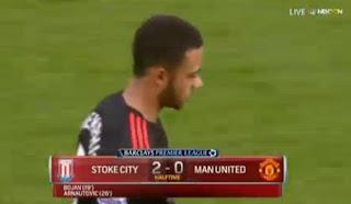 HT: Stoke City vs Manchester United 2-0