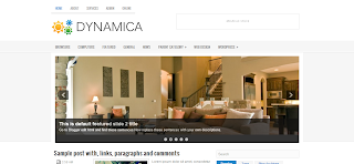 Dynamica Blogger Template is a clean and simple 2 column template