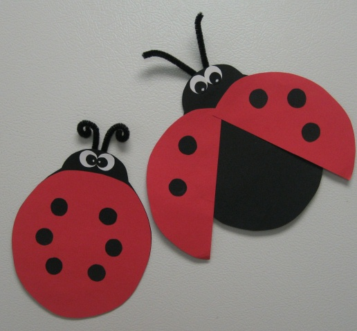 Creative teaching race cars and ladybugs for Ladybug arts and crafts