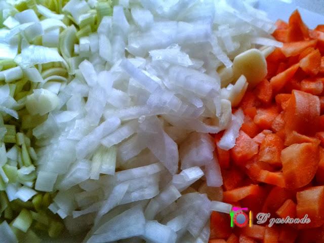 Lavamos y picamos las verduras