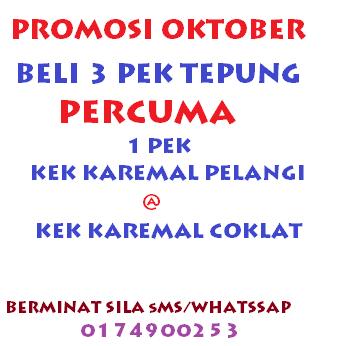 Promosi Oktober,Tepung segera,Tepung Kek Segera