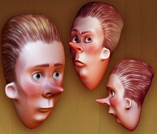 Modélisation d'un personnage virtuel en 3D.