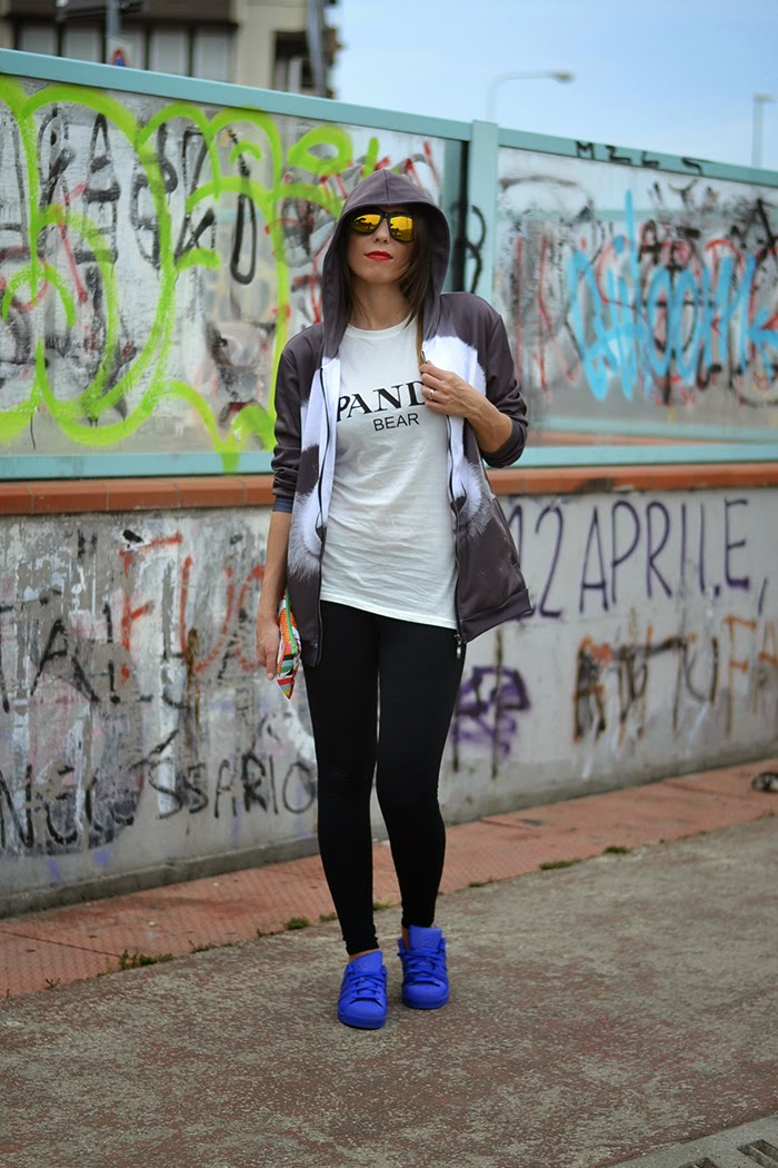 look street style felpa leggings