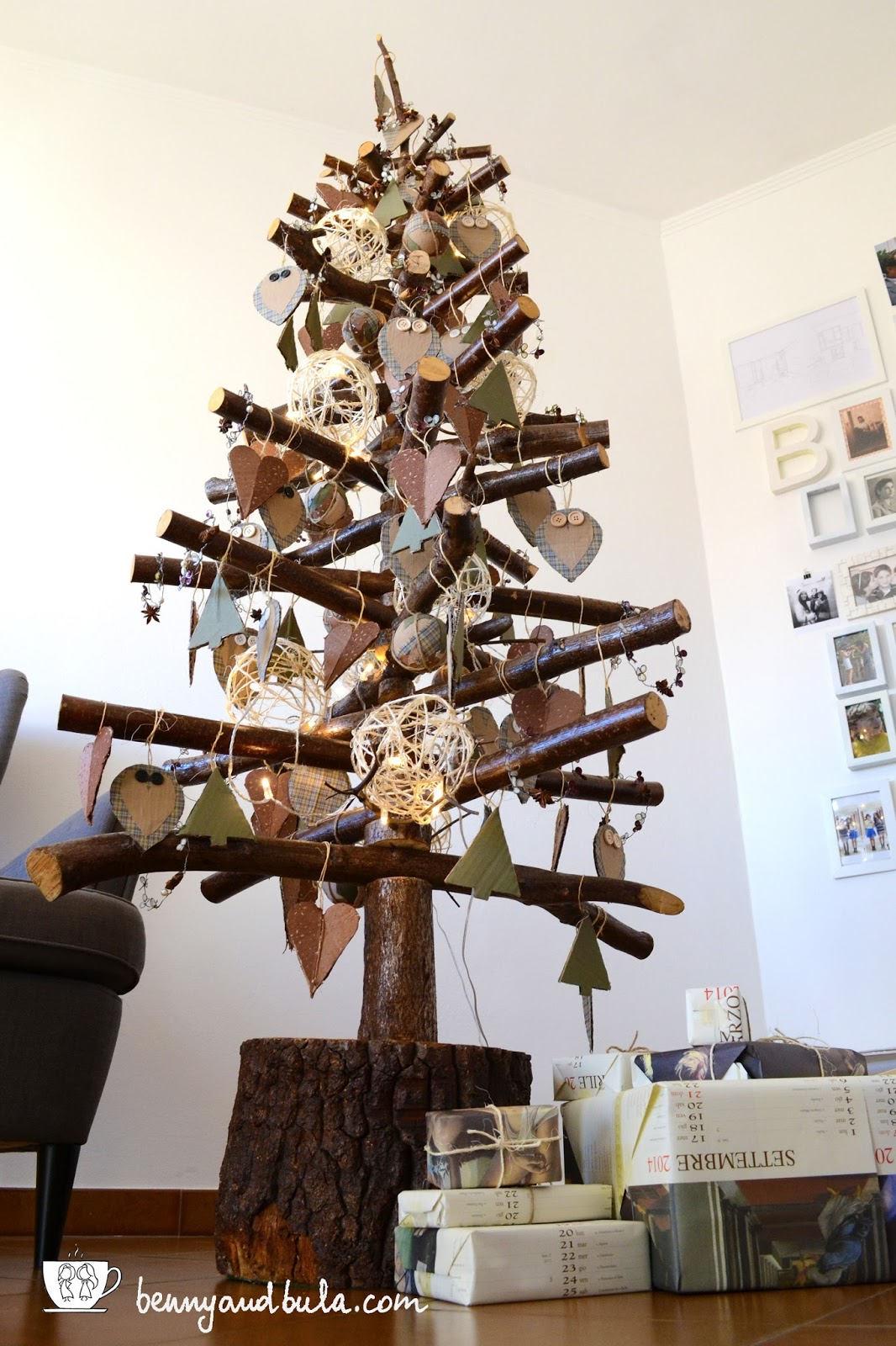 Albero di Natale in legno Faidate/DIY Scandinavian Christmas Tree with Branches