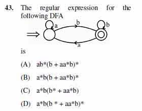 2012 June UGC NET in Computer Science and Applications, Paper III, Question 43
