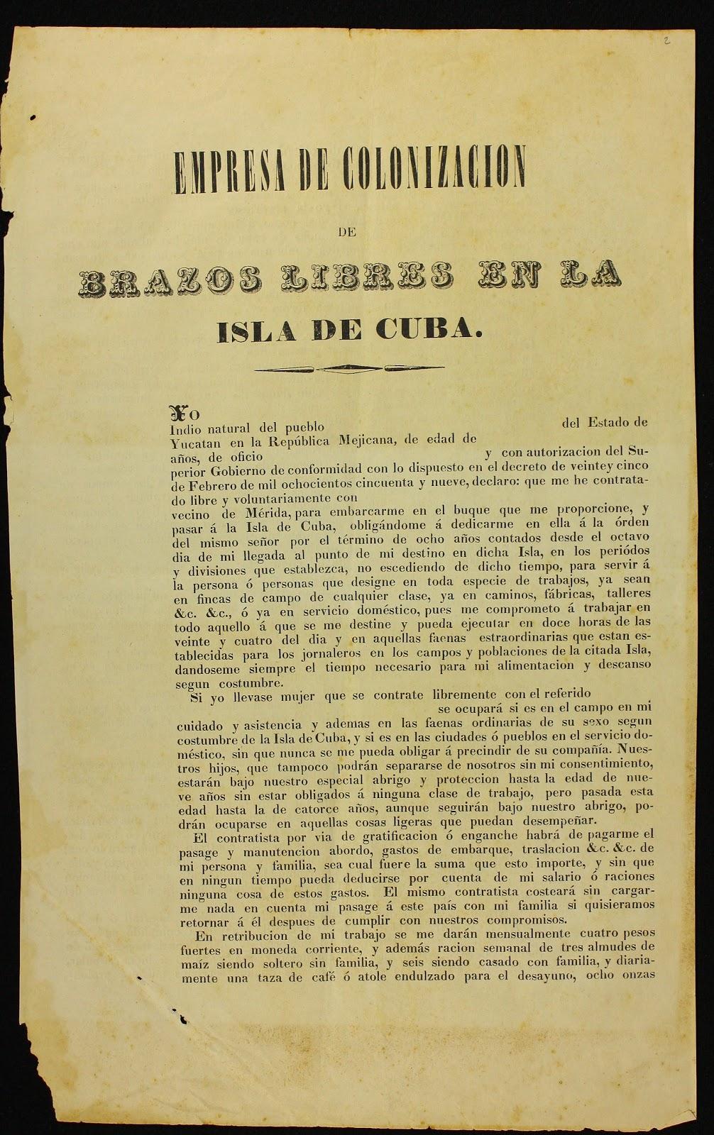 El Gallo Algebraico: La venta de mayas a Cuba durante la Guerra de ...