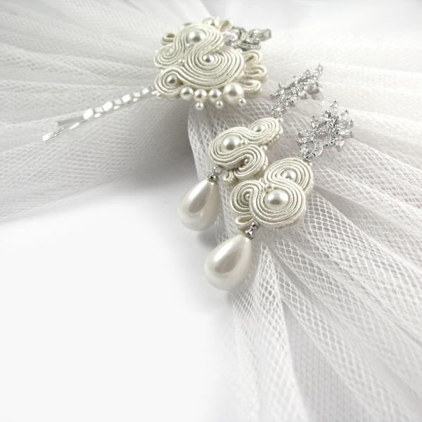 """Perłowy komplet ślubny sutasz ivory, kolekcja PRESTIGE, fason """"Rossa Pearl"""