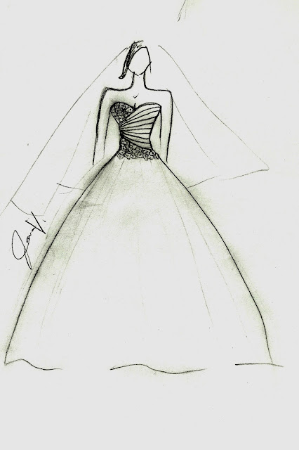 OWN LINE: Wedding Gown Sketches