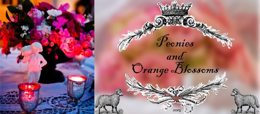 Peonies and Orange Blossoms