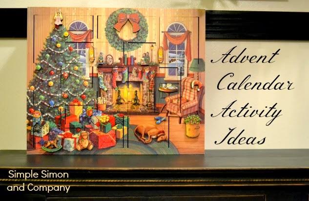 Advent calendar activities ideas simple simon and company