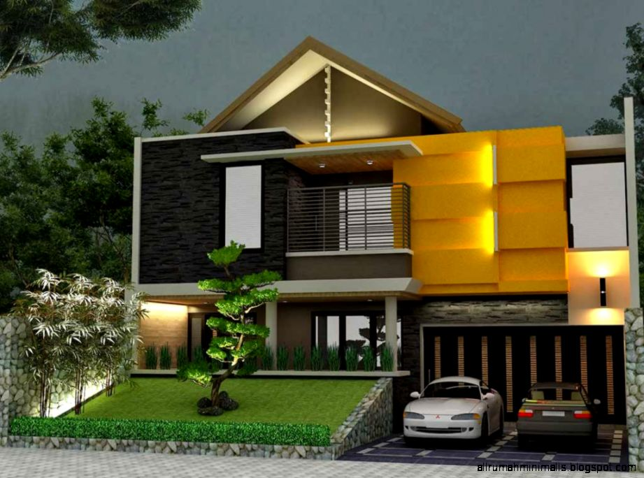 Model Rumah Minimalis 2 Lantai Modern 2014   Modern Sederhana