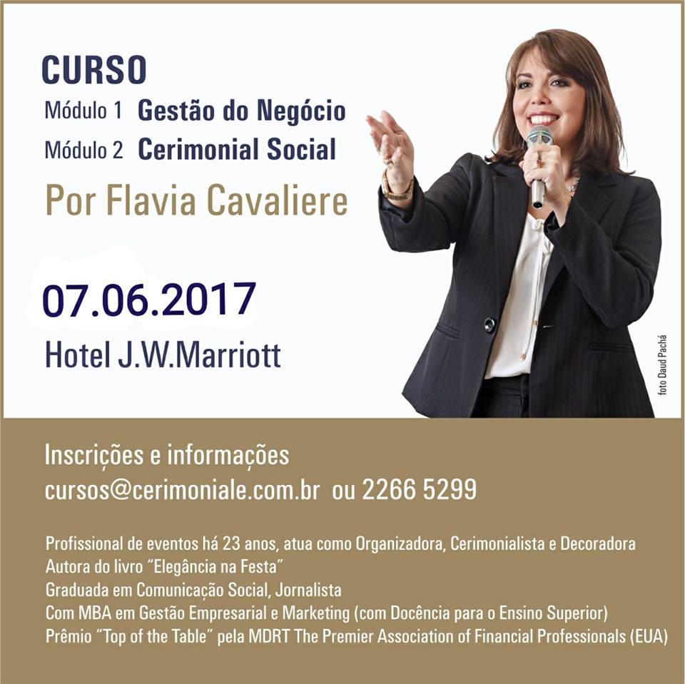 Curso com Flavia Cavaliere no J.W.Marriott