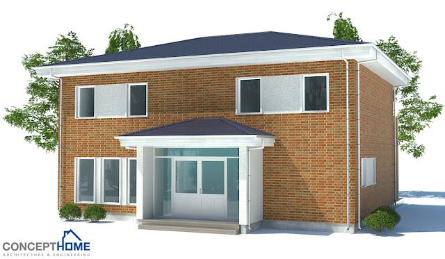 Contemporary house plans small modern house ch175 for Concept home com