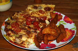 Excellent omelette and wedges