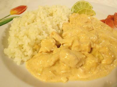 Pollo al Curry Rosso Thailandese con Latte di Cocco