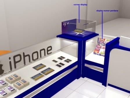 etalase HP display Handphone semarang