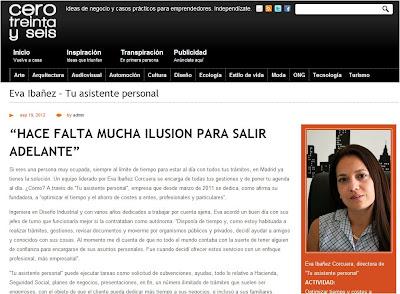 http://www.cerotreintayseis.es/eva-baeza-tu-asistente-personal/