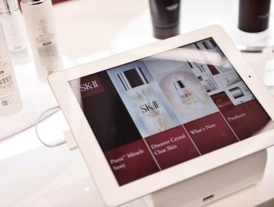 sk-ii interactive ipads