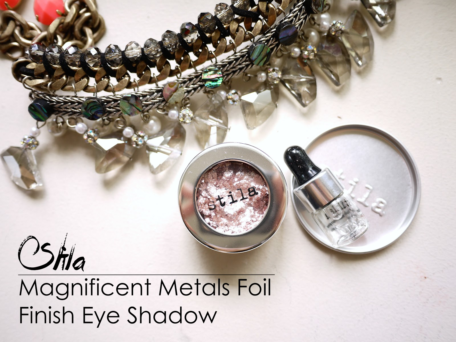 Stila Magnificent Metals Foil Finish Eye Shadow Metallic Dusty Rose swatch review