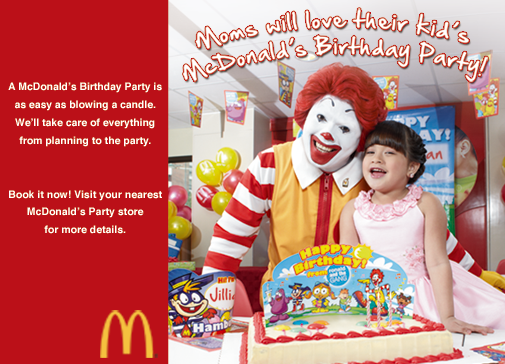 McDonald's Party Packages