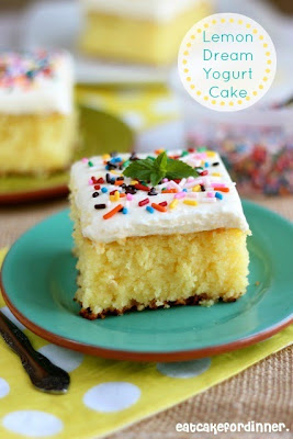 Lemon Dream Yogurt Cake with Lemon Marshmallow Buttercream