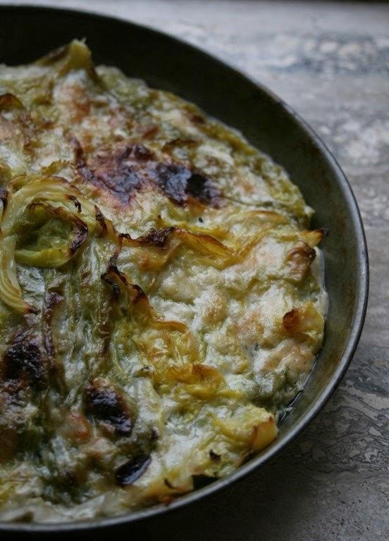 cavolo verza  al forno con béchamel vegetale