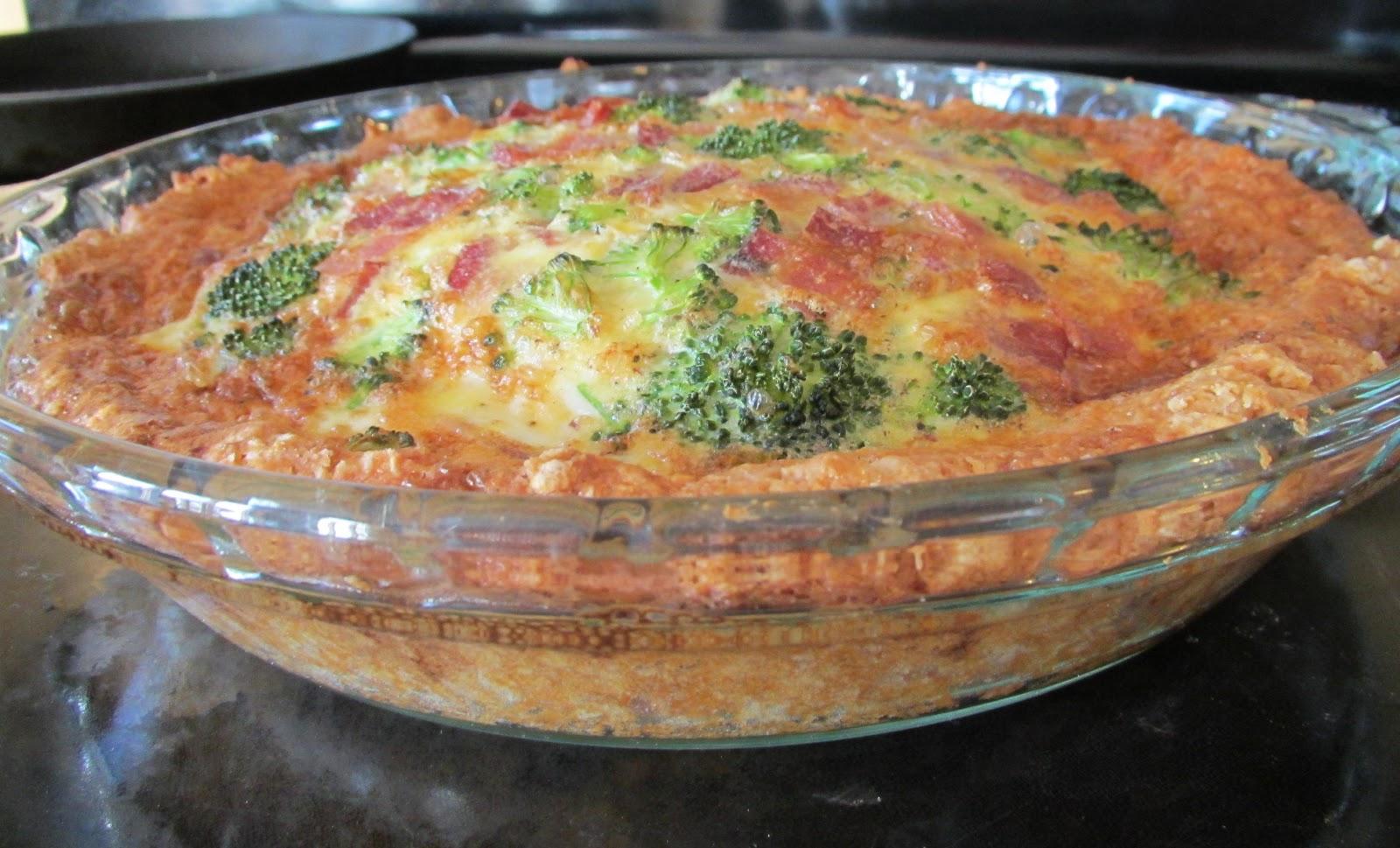 ... Free! : Delicious Broccoli & Bacon Quiche w/ Buttermilk Biscuit Crust