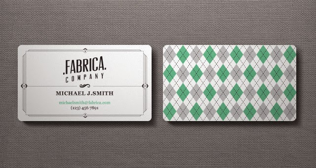 Retro Business Card in Ai Format