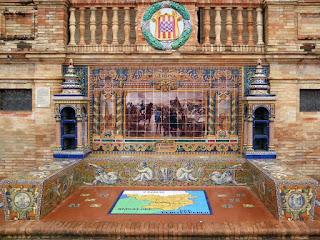 Plaza de España, Sevilla - Azulejo de Gerona