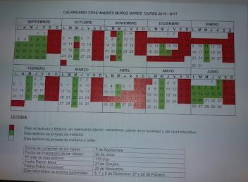 CALENDARIO CURSO 2017-2018 PDF
