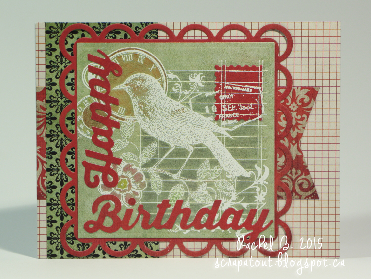 Handmade card, Birthday, Hero Arts, Spellbinders, Bird
