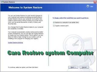 Cara Restore komputer