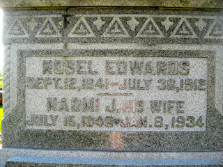 Rosel Edwards 1912 Naomi Jane Edwards 1934 Delaware County Ohio