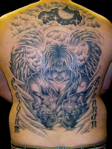 Angels Tattoos Fonts 2012