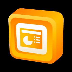Icono power point bot n 3d microsoft office for Icono boton