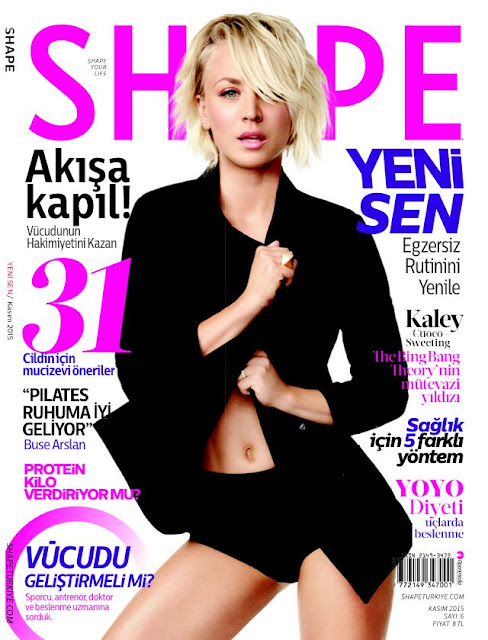 Actress @ Kaley Cuoco-Sweeting - Shape Turkey, November 2015